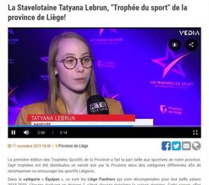 Tatyana trophée sportif 1